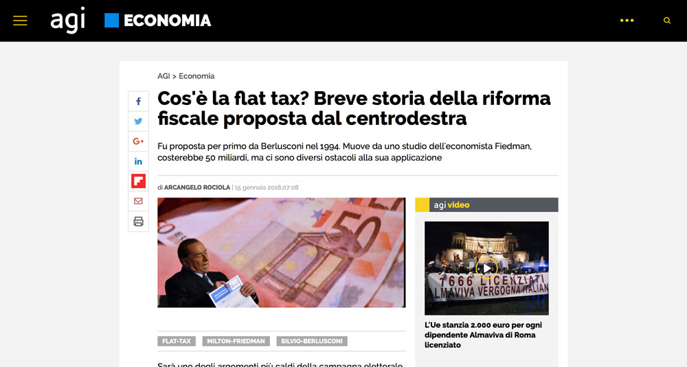 Cos'è la flat tax? Breve storia della riforma fiscale proposta dal centrodestra