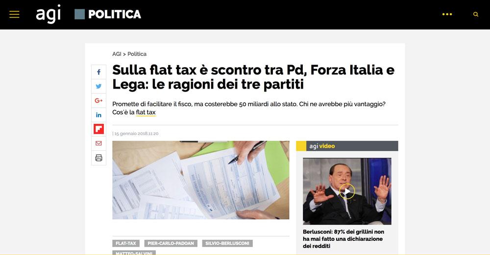 Sulla flat tax è scontro tra Pd, Forza Italia e Lega